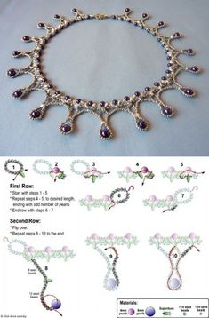Best Seed Bead Jewelry 2017 FREE beading pattern for Framed Pearl Drops necklace