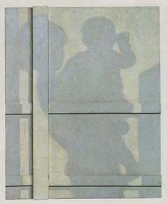 高松次郎《影(母子)》1964年 滋賀県立近代美術館 114.0×92cm