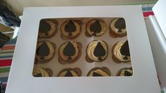 Ace of spades cup cakes