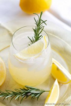 Meyer Lemonade with Rosemary and Vodka