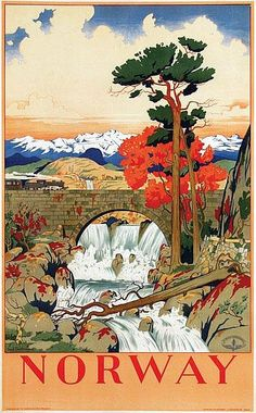Poster by Arent Christensen - Norway Norway - 62x100, ca. 1940 by Arent Christensen (1894-1982)