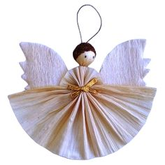 Thumbnail image for Make Christmas Decorations Diy Christmas Angel Ornaments, Christmas Angels, Christmas Decorations To Make, Handmade Christmas, Christmas Crafts, Kids Christmas, Diy Angels, Handmade Angels, Angel Crafts