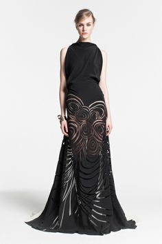 Love this bold black gown from Vionnet Pre-Fall 2013