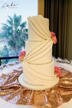 Simple Elegant wedding cake with fresh roses. Call or email to order your celebration cake today. Simple Elegant Wedding, Elegant Wedding Cakes, Cakes Today, Cupcake Wars, Cake Decorating Tips, Celebration Cakes, Custom Cakes, Food Network Recipes, Vanilla Cake
