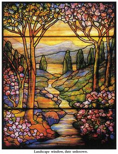 Welcome to Dover Publications Completed Landscape stained glass window
