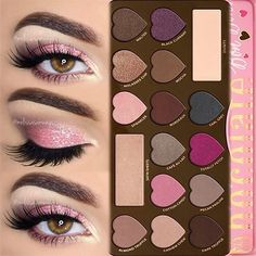 Love this Sugar Pink Glitter Makeup by @melissasamways featuring our Chocolate Bon Bons Palette!  #regram #chocolatebarpalette #toofaced by toofaced