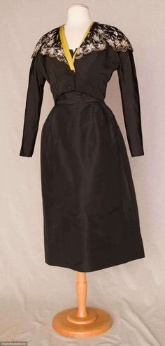 Dior Silk Cocktail Ensemble, 1948, Augusta Auctions, November 10, 2010 - St. Pauls - NYC, Lot 321