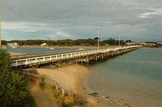 Barwon Heads Bridge linking Barwon Heads and Ocean Grove. Victoria Australia, Bridge, Childhood, Ocean, Country, Beach, Water, Outdoor, Infancy