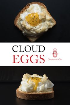 Learn how to make super fluffy cloud eggs (with parmesan!) - perfect for a fancy breakfast. A real simple recipe that you'll come back to every time you plan to impress! #breakfast #chocolatesandchai #cloudeggs Real Simple Recipes, Vegan Recipes Easy, Real Food Recipes, Yummy Food, Slimming Recipes, Amazing Recipes, Delicious Recipes, Cooking Recipes, Egg Recipes