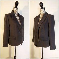 Karen Scott Petite Womens Size 12P Blazer Jacket Gray Lined 1 Button 2 Pocket #KarenScott #Blazer