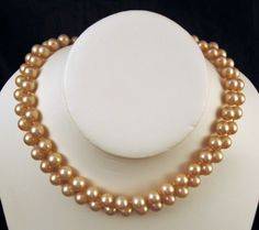 Creamy Faux Pearl Choker Double Strand 8mm Sterling Clasp at GrapenutGlitzJewelry on Etsy $42