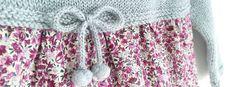 Pelele de punto y tela combinado de bebé [ Tutorial y Patrón GRATIS ] Diy, Babies, Fashion, Baby Girl Clothing, Tela, Knits, How To Knit, Dresses For Babies, Ideas