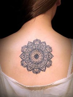A geometric tattoo design - you would have to be brave!