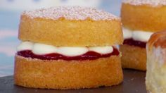 This Mini Victoria Sponge Cakes recipe appears as one of the technical challenges in the Finale episode of The Great British Baking Show.