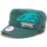 New Era Philadelphia Eagles Ladies Goal-To-Go Military Adjustable Hat -  Midnight Green f9e1d8e48