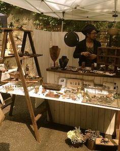 table through a ladder Vendor Displays, Craft Booth Displays, Vendor Booth, Market Displays, Store Displays, Craft Show Booths, Farmers Market Display, Vintage Market Days, Craft Stalls