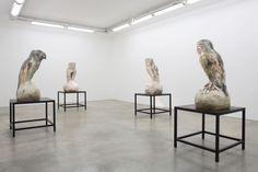 View of Johan Creten's solo show The Vivisector at Galerie Perrotin, Paris, in 2013