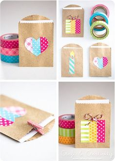 Washi #hand made gifts #diy gifts #do it yourself gifts| http://handmadegifts.lemoncoin.org