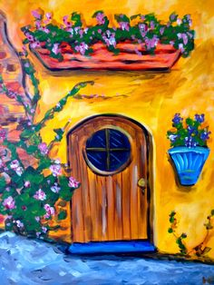 1000 images about door on pinterest ford garden for Painting with a twist lewisville tx