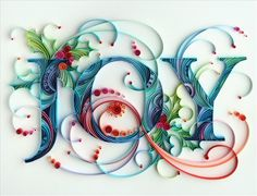 Quilled joy by all things paper, via Flickr
