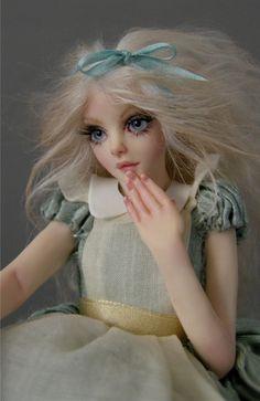 ALICE IN WONDERLAND TEA SET: alice doll - Nicole West Fantasy Art