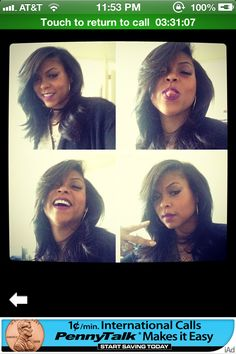 Taraji P Henson... love the cut.. I found the one! !