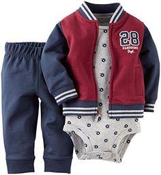 Carter's Stripe Varsity Cardigan Set - Baby Boy, Size from Kohl's. Shop more products from Kohl's on Wanelo. Baby Boy Clothing Sets, Newborn Boy Clothes, Baby Boy Newborn, Baby Boy Outfits, Kids Outfits, Carters Baby Boys, Kids Fashion Boy, Baby Winter, 3 Piece