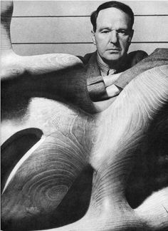 Sculptor Henry Moore, 1946, photographed by Bill Brandt.