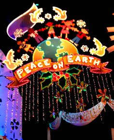 """""""It's A Small World"""" Disney Celebrates Diversity at the Winter Holidays Disney Vacations, Disney Trips, Disney Parks, Walt Disney World, Disney Pixar, Decorating With Christmas Lights, Christmas Decorations, Small World Disneyland, Cultural Conflict"""