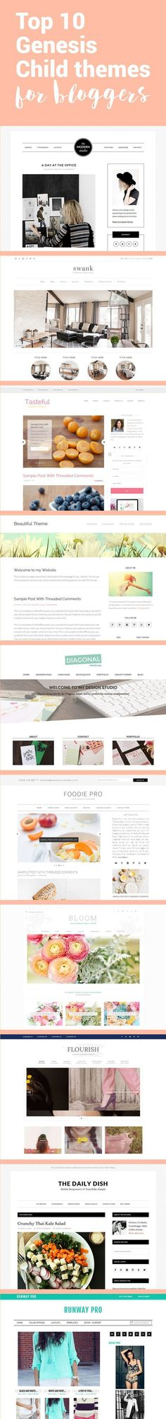 Use one of these wordpress themes for your new blog. Stylish, responsive, and fast.