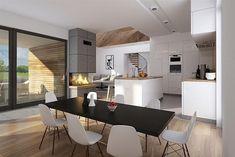 Projekt domu Dla Melomana 2 144,75 m2 - koszt budowy 228 tys. zł - EXTRADOM Design Case, Conference Room, House Design, Interior Design, Table, Furniture, Home Decor, Houses, Homes