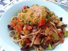 Vegspiration - Blog de inspiración vegana: Pasta con salsa fresca de cilantro