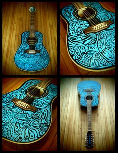 haida12STRUM hand painted playable 12 string acoustic by hipCRANK, $500.00