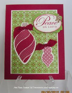 Ornament card from Sharing Creativity and Stampin'