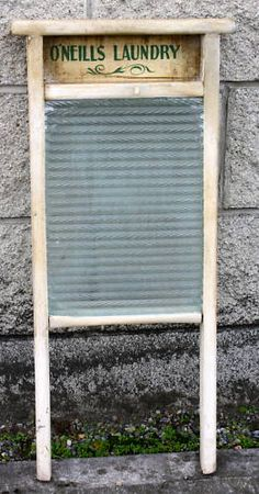 O'Neill Laundry Antique Irish Wash Board Ireland
