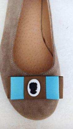 Handmade leather ballerina with cameo designed by Elli lyraraki