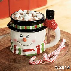 Snowman Mug with Shovel Spoon - Oriental Trading