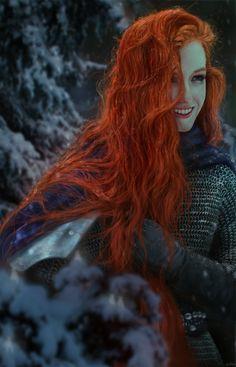 Рыжая воительница.