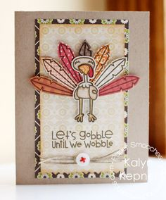 Love this thanksgiving card - I like the border cut around the image. (Paper Smooches)