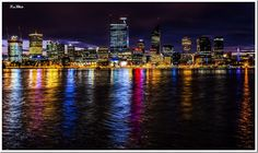 Perth Nightscape - Across the Swan River