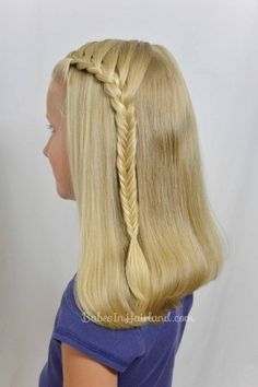 Lace Braid into a Fishbone Braid from BabesInHairland.com #braids #fishbonebraid #hair #video