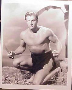 Lex Barker Old Hollywood Stars, Hollywood Icons, Classic Hollywood, Tarzan Actors, Tarzan Movie, Tarzan Of The Apes, Tarzan And Jane, Male Pinup, 70s Tv Shows