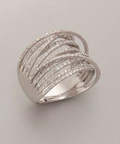 Julieri diamond and white gold 'Martha Graham' ring | BLUEFLY up to 70% off designer brands