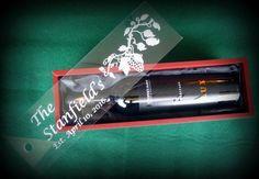 Wine Box Bride & Groom Wedding Gift 5th by BPLaserEngraving