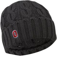 Nike Ohio State Buckeyes Women's Cable Knit Beanie - Charcoal