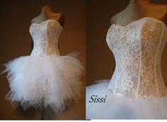 SISSI wedding dress Prom dresscoctail dress by AtelierArtistia