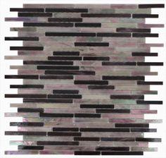 Matchstix Plum Crazy Glass Tile contemporary bathroom tile