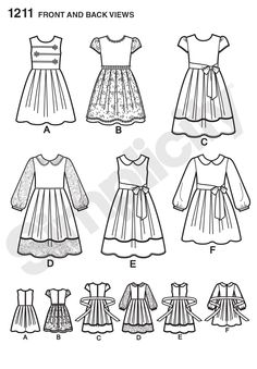 Simplicity Creative Group - Child's and Girls' Dress in two lengths