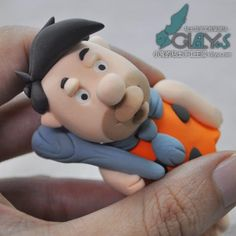 粘土卡通人物聰明笨伯作品-董輝玩具公仔DIY-完成圖