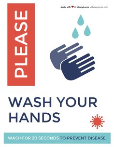Please wash your hands! Library Ideas, Hands, Templates, How To Make, Stencils, Bookshelf Ideas, Template, Western Food, Patterns